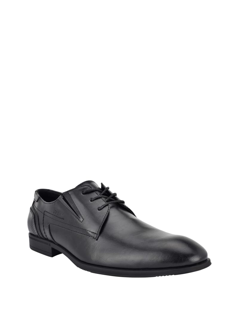 Logo-Embossed Lace-Up Dress Shoes