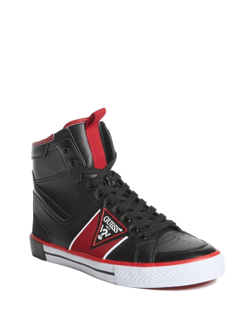 Maeno Triangle Logo High-Top Sneakers