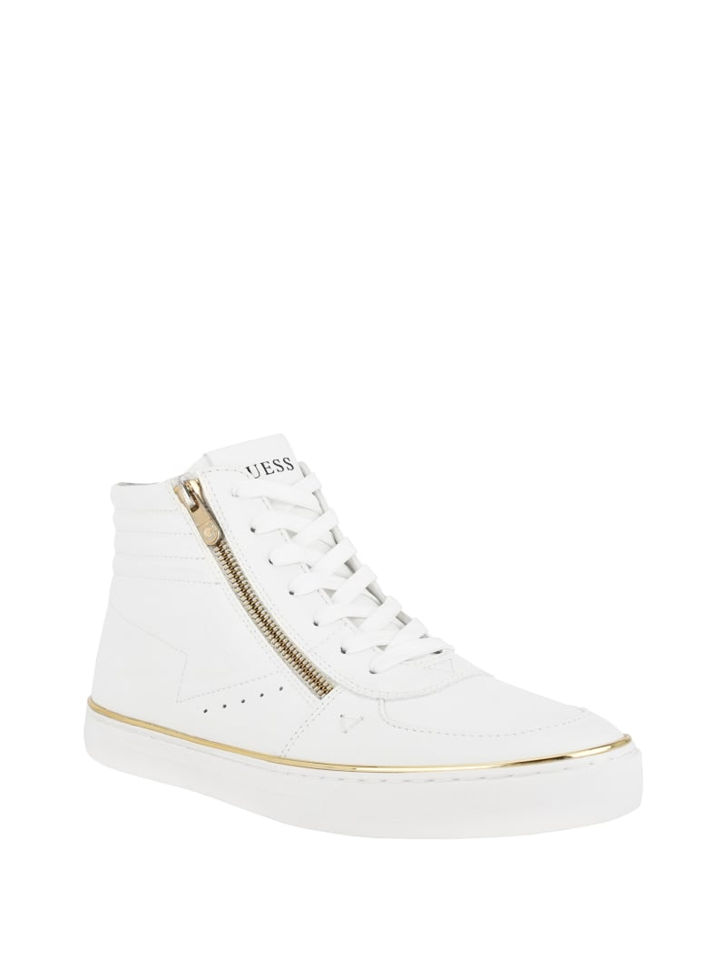 Marza Quilted High-Top Sneakers