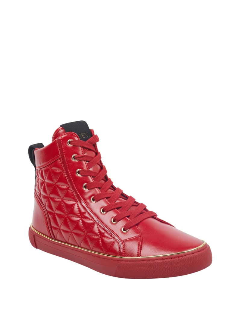Melo Quilted High-Top Sneakers