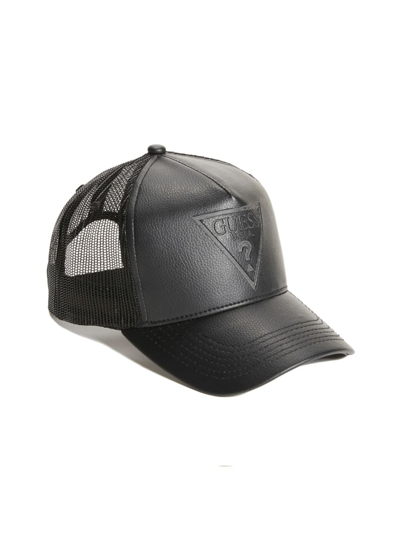 Kevin Faux-Leather Trucker Hat