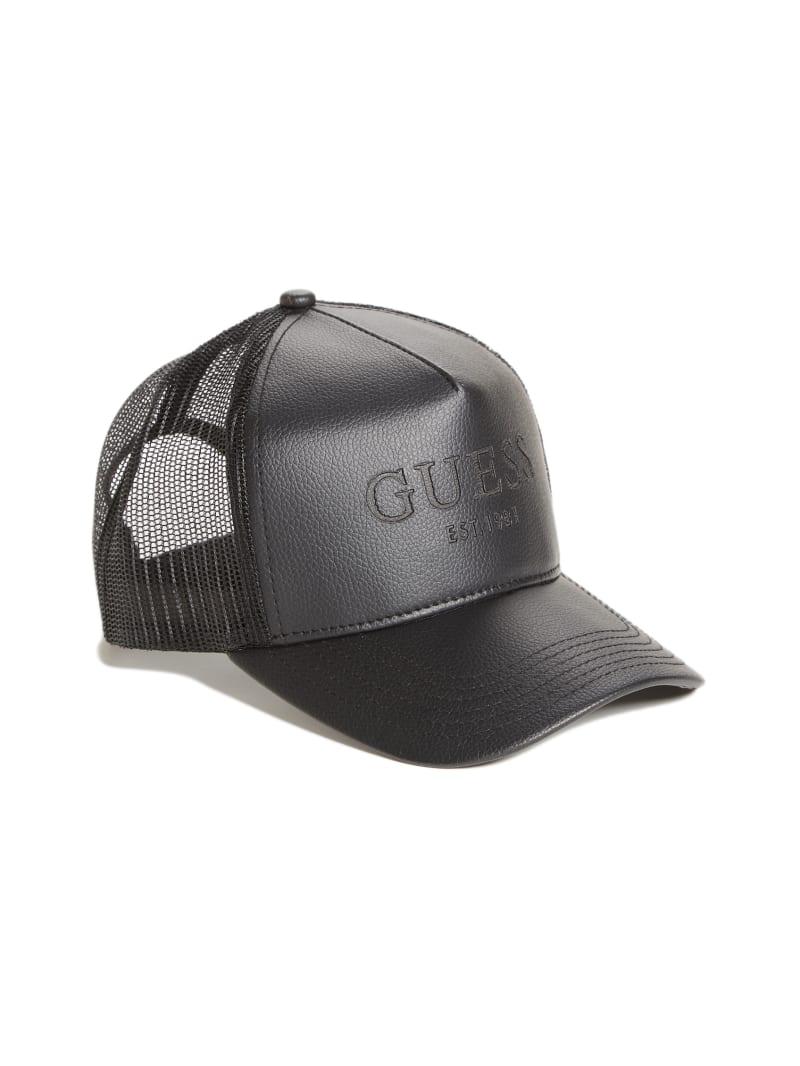 Faux-Leather Trucker Hat