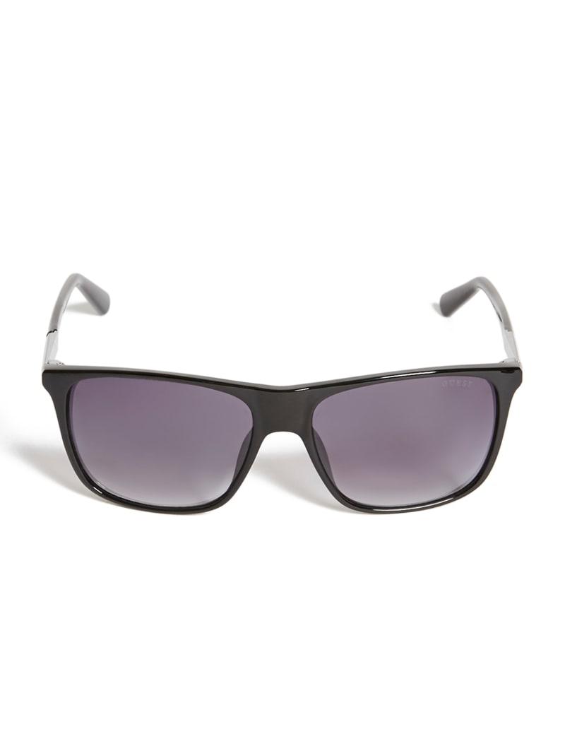 Shane Square Logo Stripe Sunglasses
