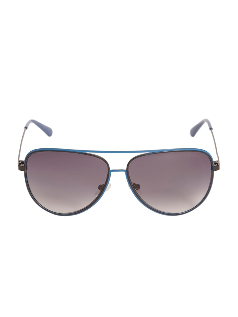 Wesley Metal Aviator Sunglasses