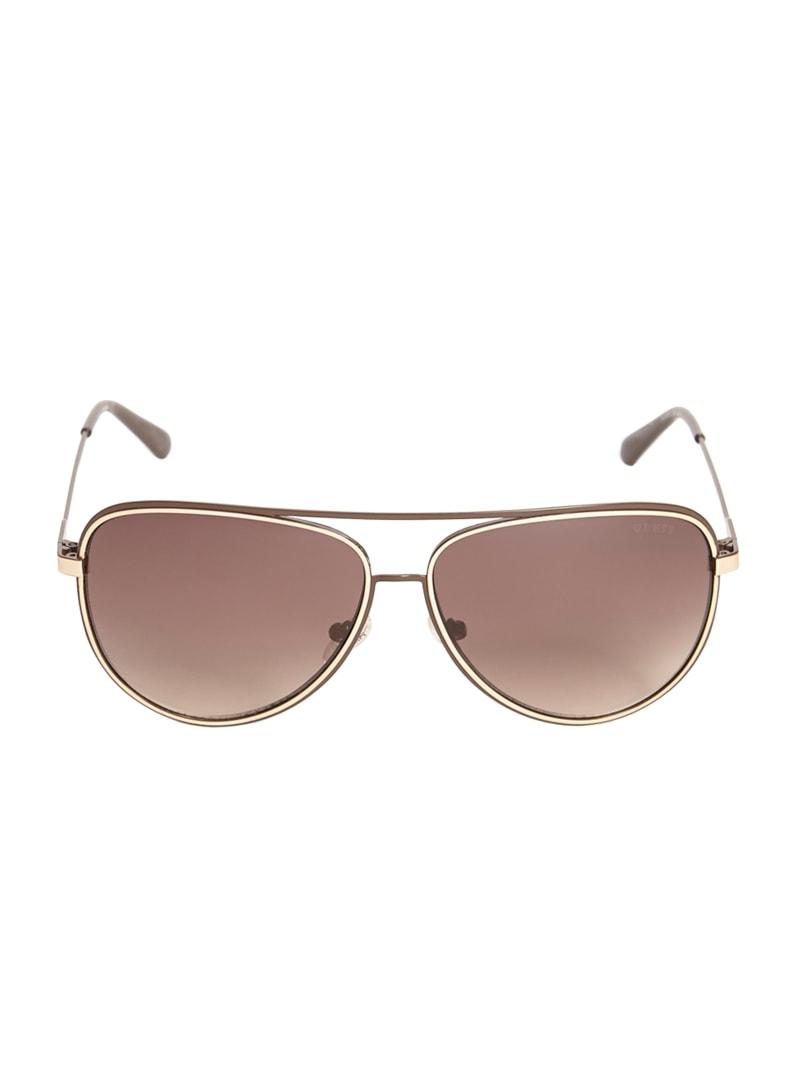 Wesley Metal Aviator Sunglasses