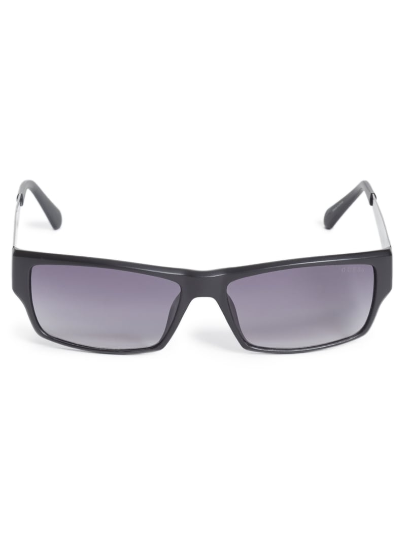 Rectangular Logo Sunglasses