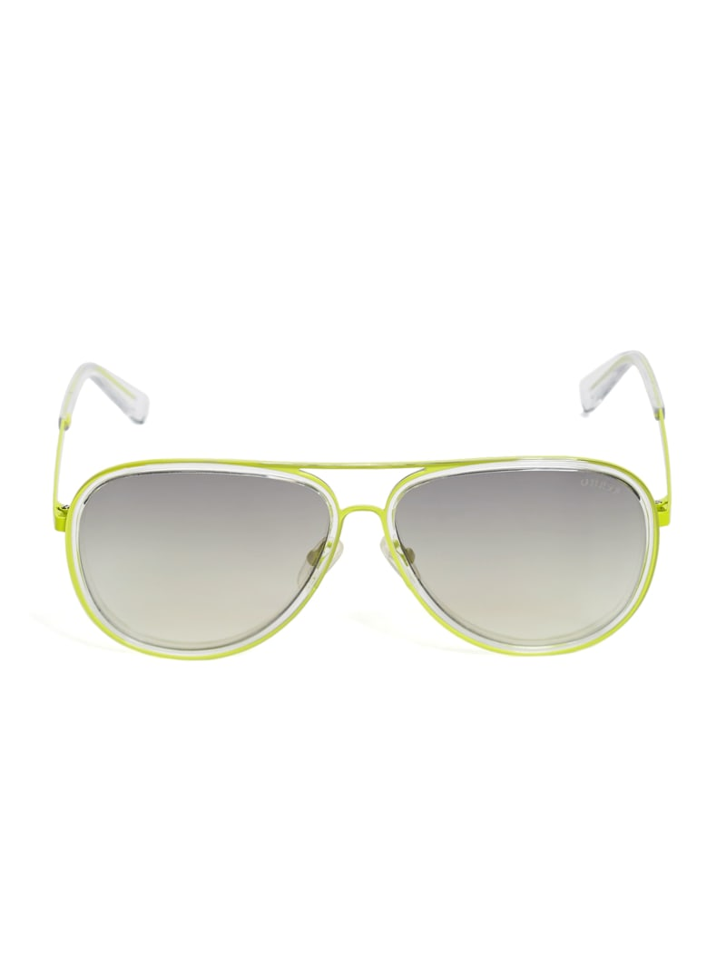 Rosell Transparent Aviator Sunglasses