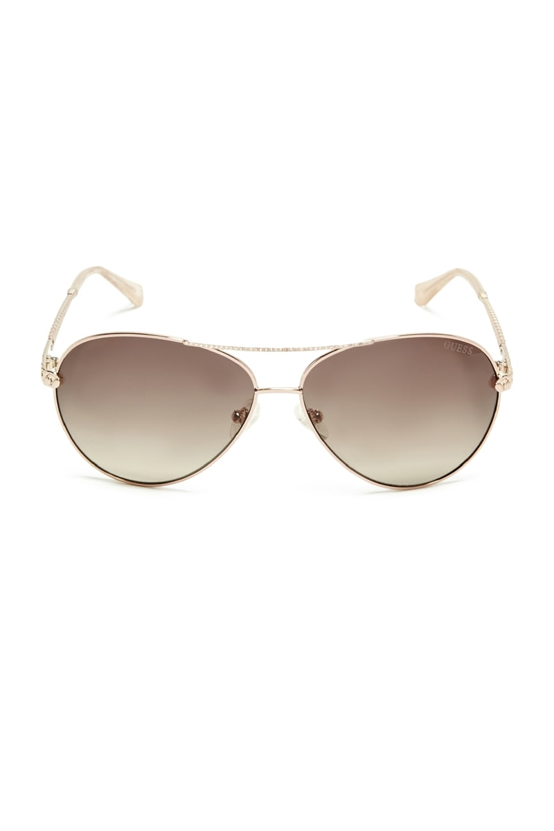 Catherine Rhinestone Aviator Sunglasses