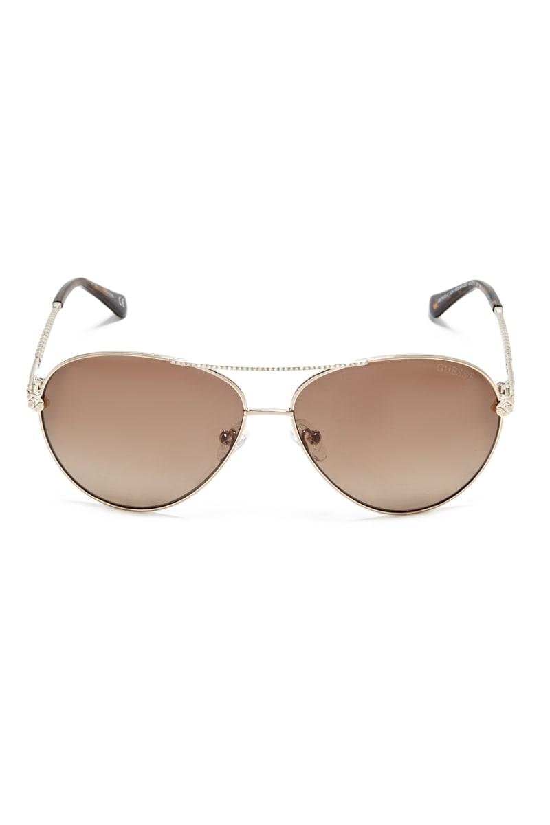 Catherine Rhinestone Aviator Sunglasses