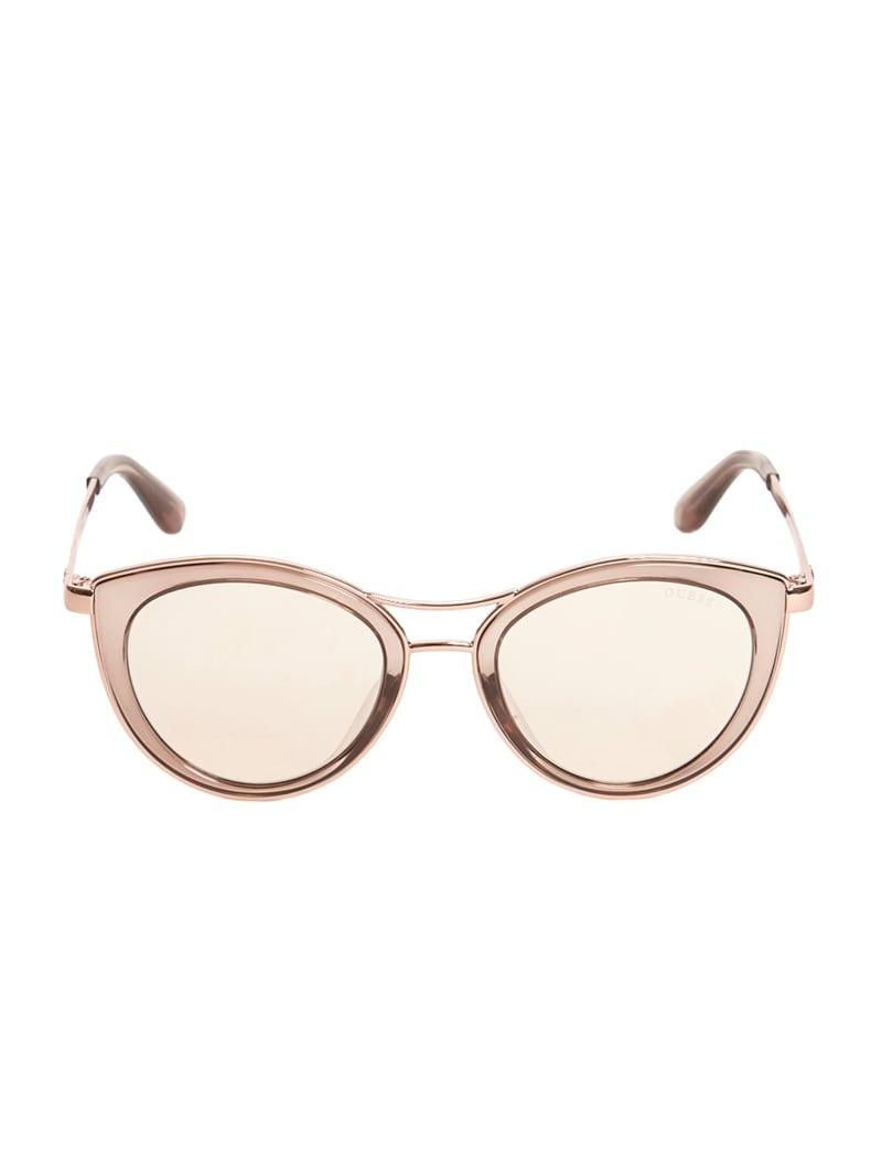 Lace Top Bar Cateye Sunglasses