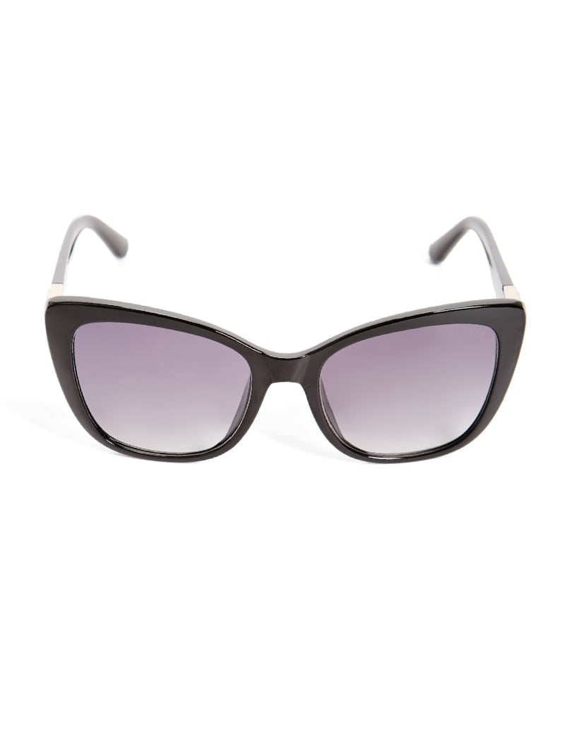 Cat-Eye Triangle Logo Sunglasses