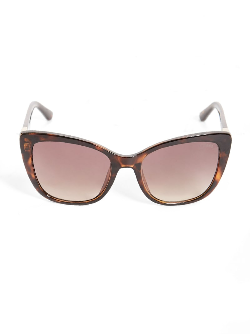 Cat-Eye Triangle Logo Sunglasses