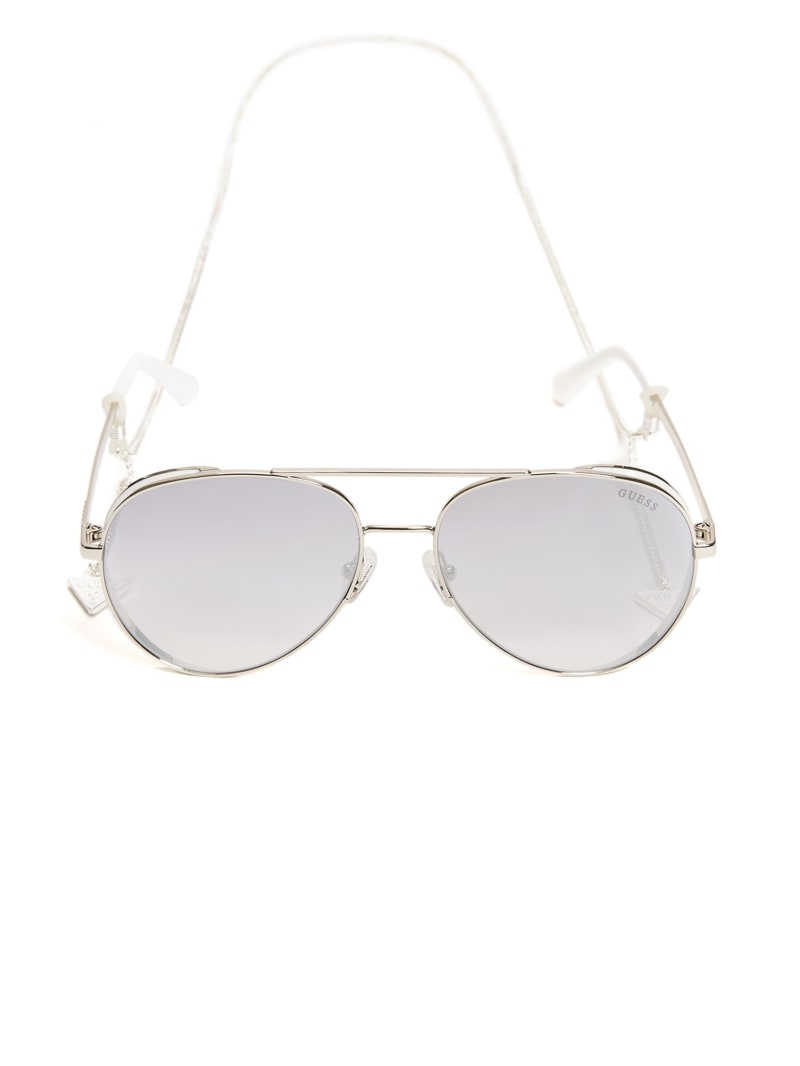 Aviator Sunglasses with Chain