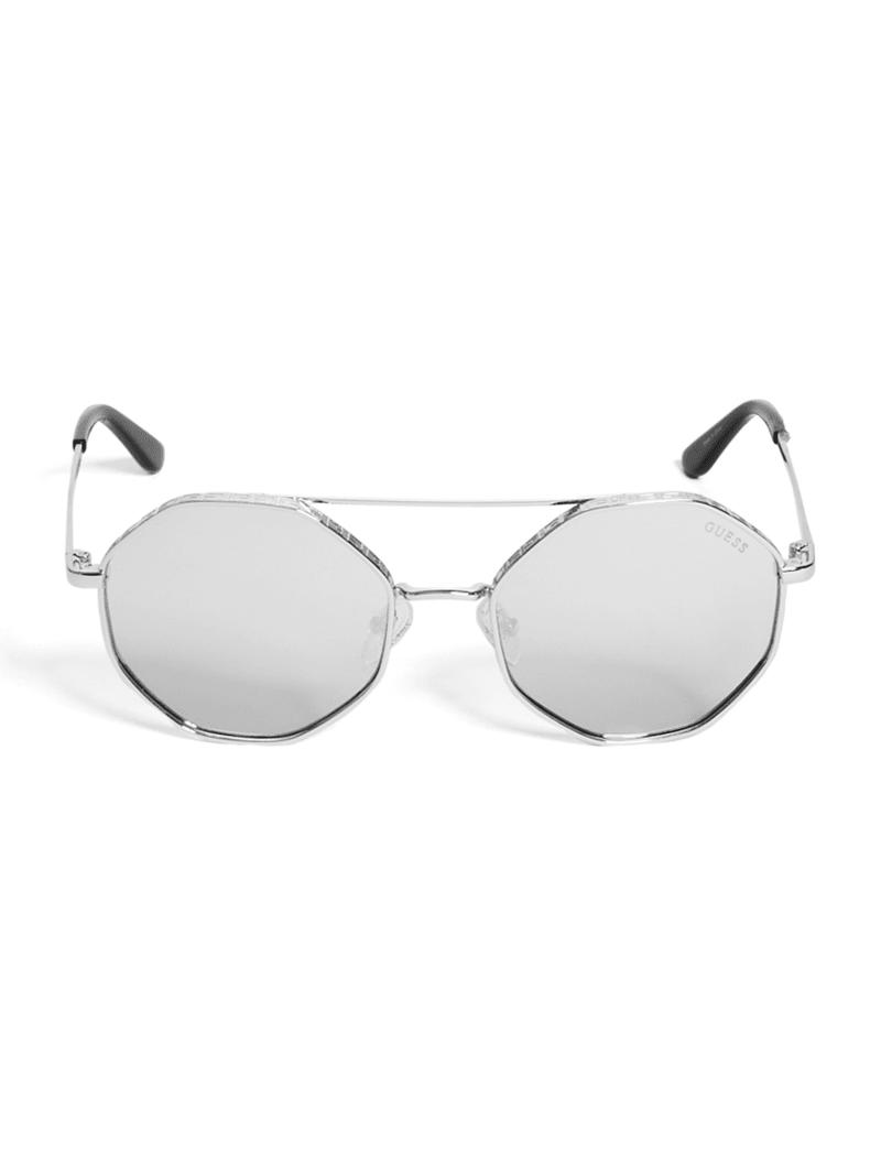 Geo-Shaped Round Sunglasses