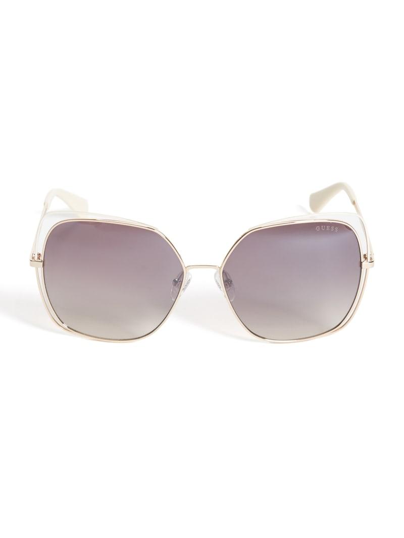 Wire Cutout Square Sunglasses