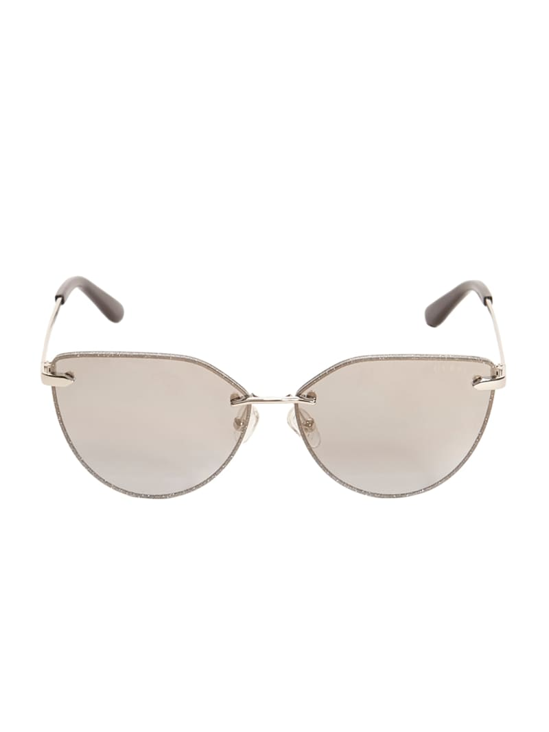 Pia Rimless Cateye Sunglasses