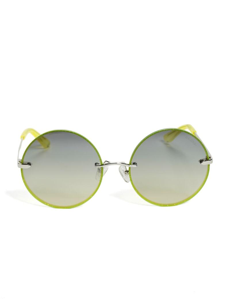 Greyson Glitter Trim Round Sunglasses