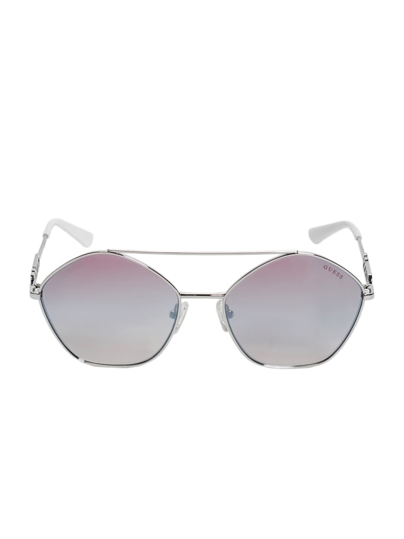 Janeen Pentagon Aviator Sunglasses