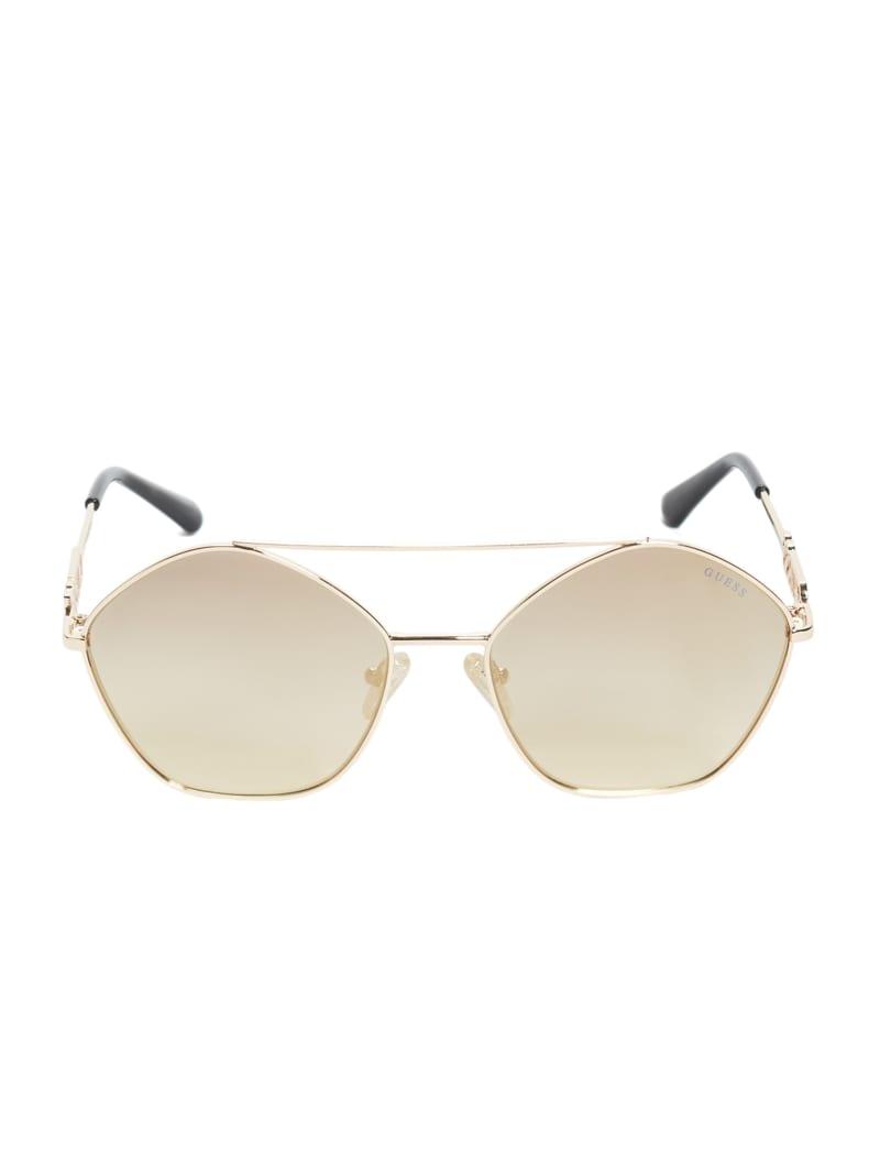 Janeen Pentagon Aviator Sunglasses