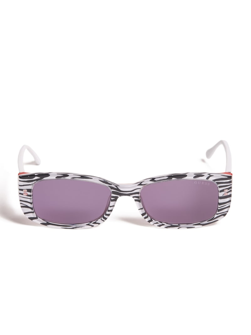 Animal Print Rectangle Sunglasses