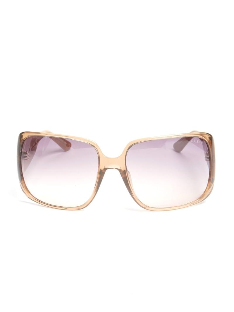 Animal Print Square Sunglasses