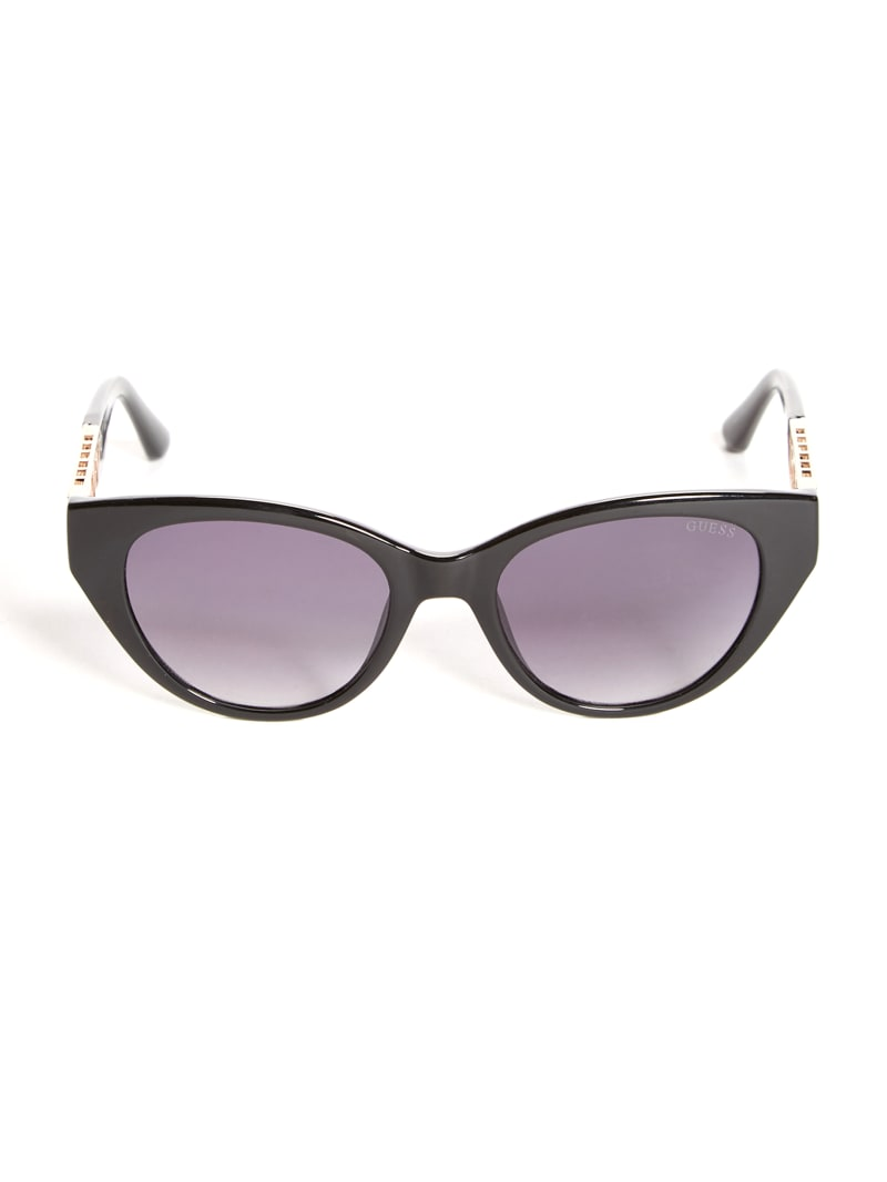 Cat-Eye Cutout Triangle Sunglasses