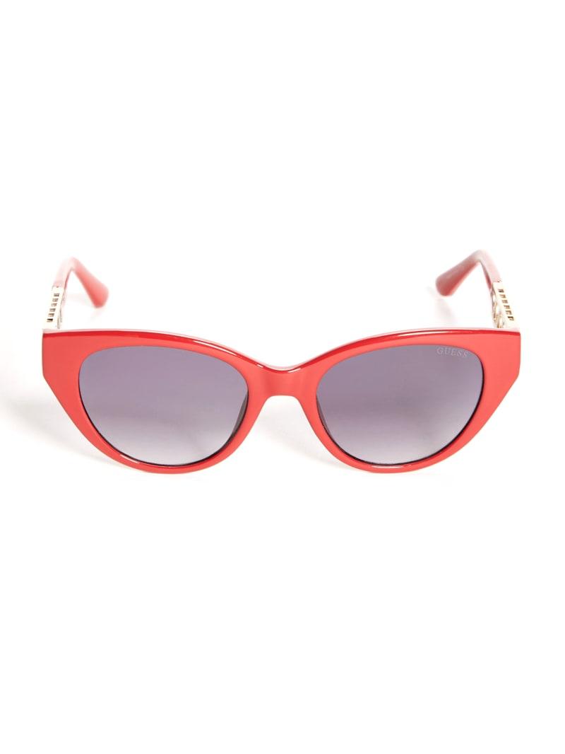 Cat-Eye Cutout Triangle Sunglasses