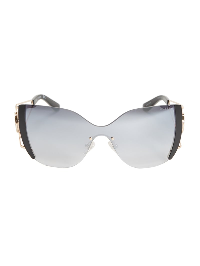 Mirrored Rimless Cateye Sunglasses