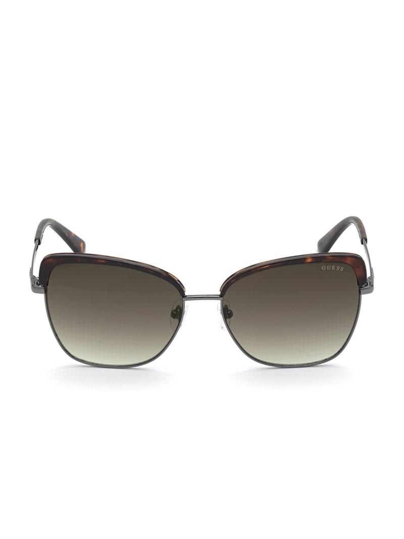 Tortoise Trim Square Sunglasses