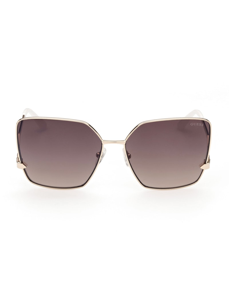 Oversized Square Zigzag Sunglasses
