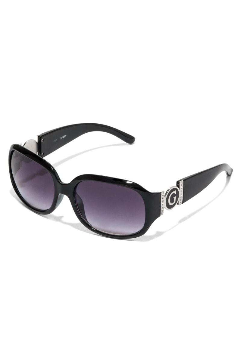 Cutout Logo Plastic Sunglasses