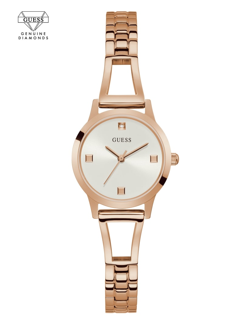Rose Gold-Tone And White Diamond Analog Watch