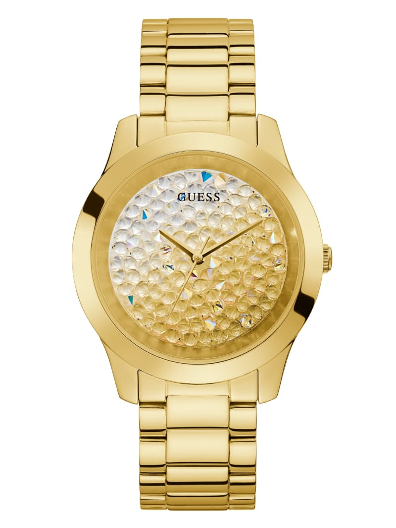 Gold-Tone Ombre Crystal Analog Watch