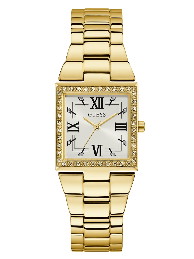 Gold-Tone Square Analog Watch