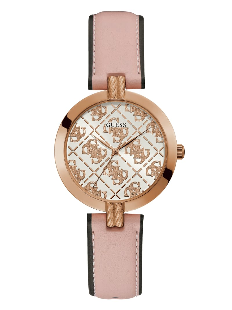 Rose Gold-Tone Logo Analog Watch