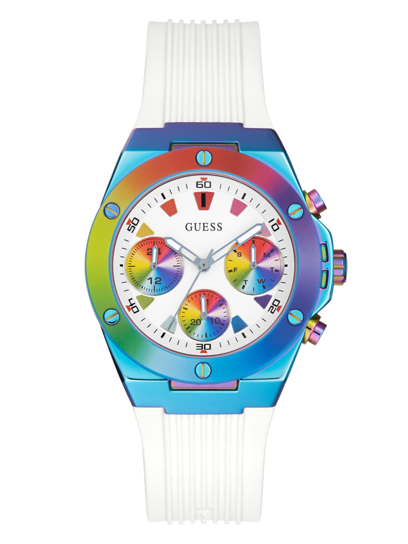 Tie-Dye Silicone Chronograph Watch