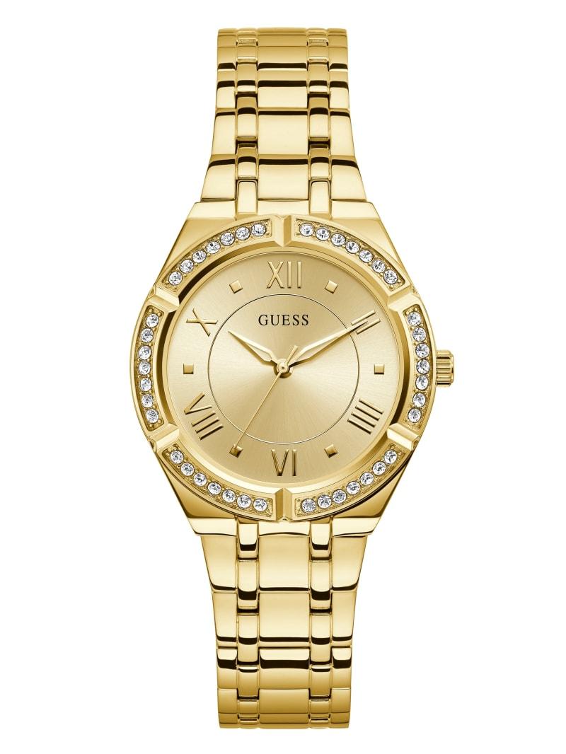 Gold-Tone Champagne Analog Watch