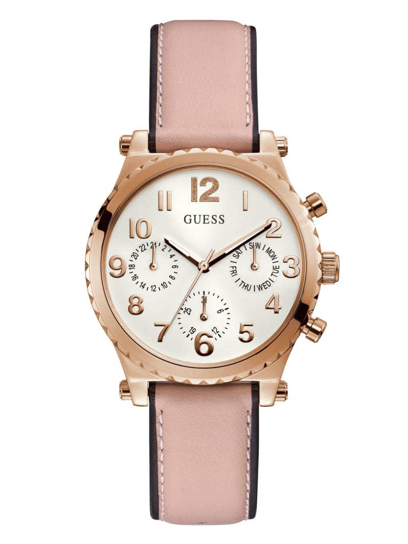 Rose Gold-Tone and Pink Chrono-Look Watch