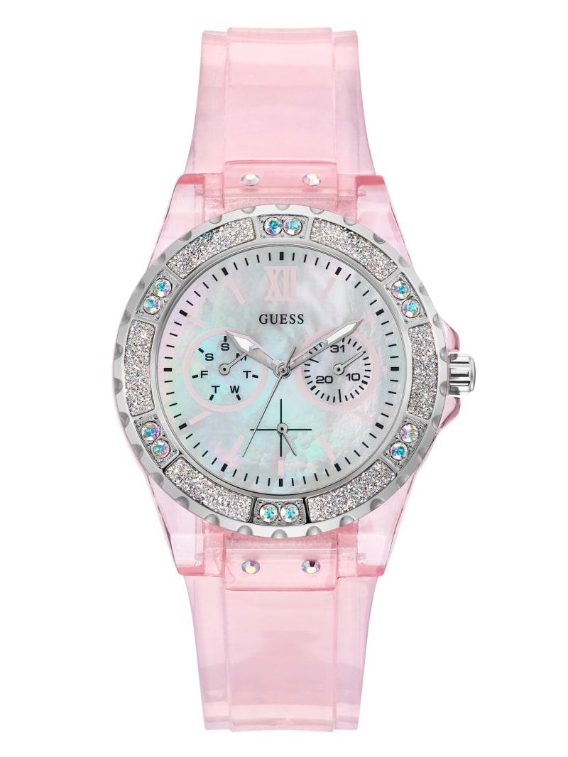Pink Transparent Multifunction Sport Watch