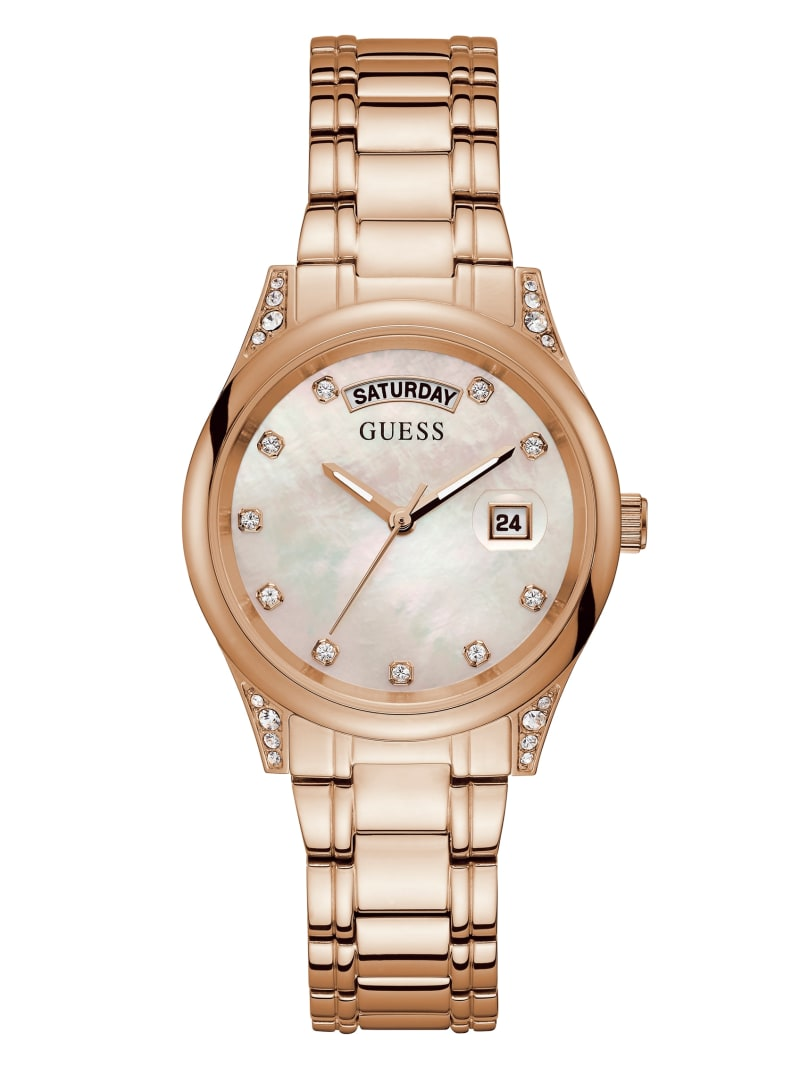 Rose Gold-Tone Day/Date Watch
