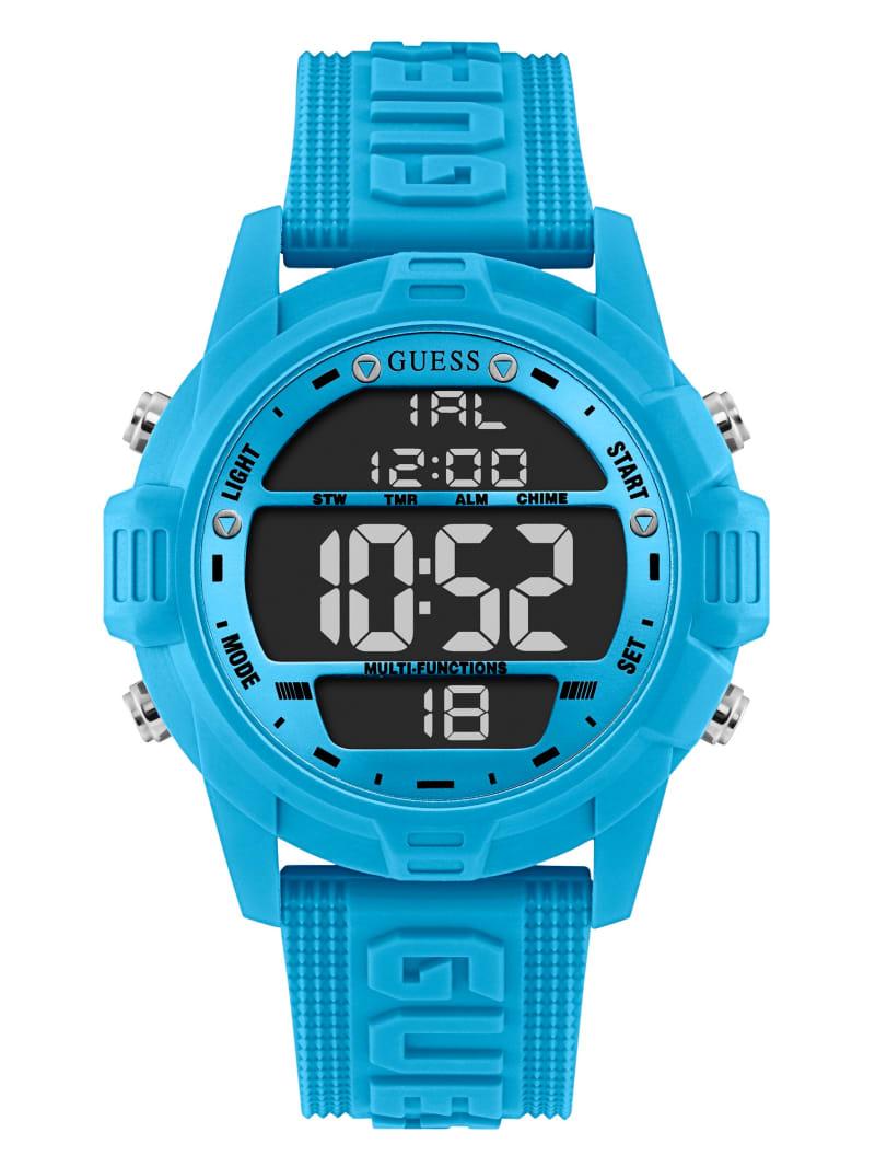 Neon Blue Oversized Digital Watch
