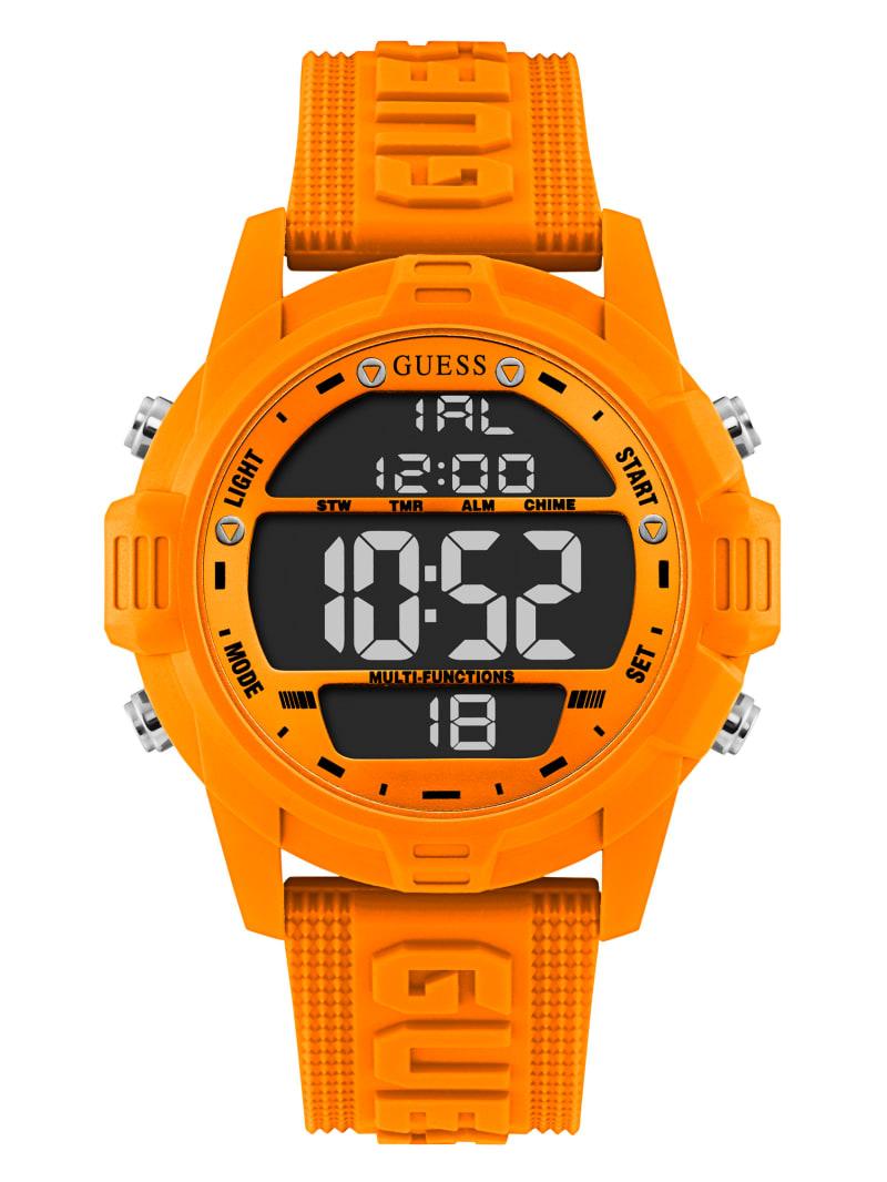 Neon Orange Oversized Digital Watch