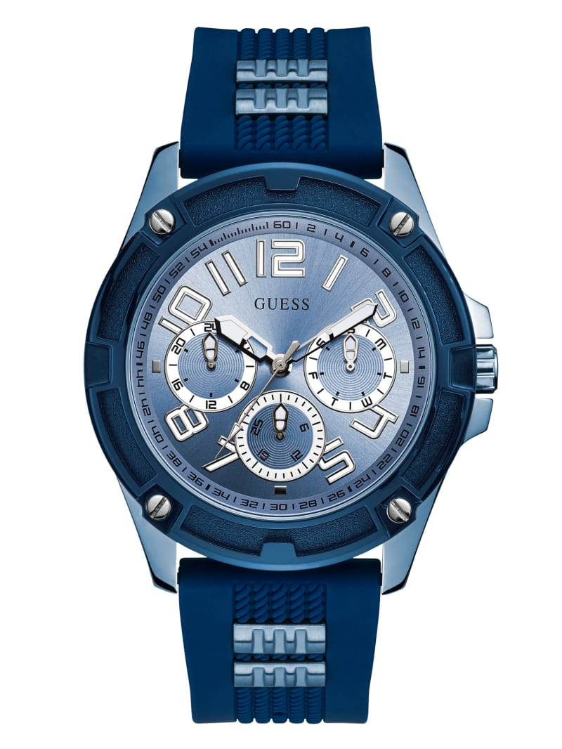 Blue Two-Tone Multifunction Watch