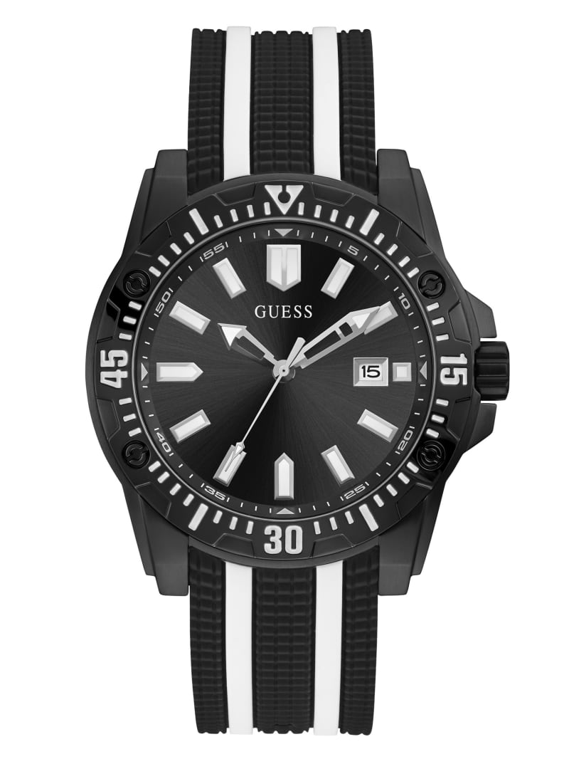 Black Striped Multifunction Watch