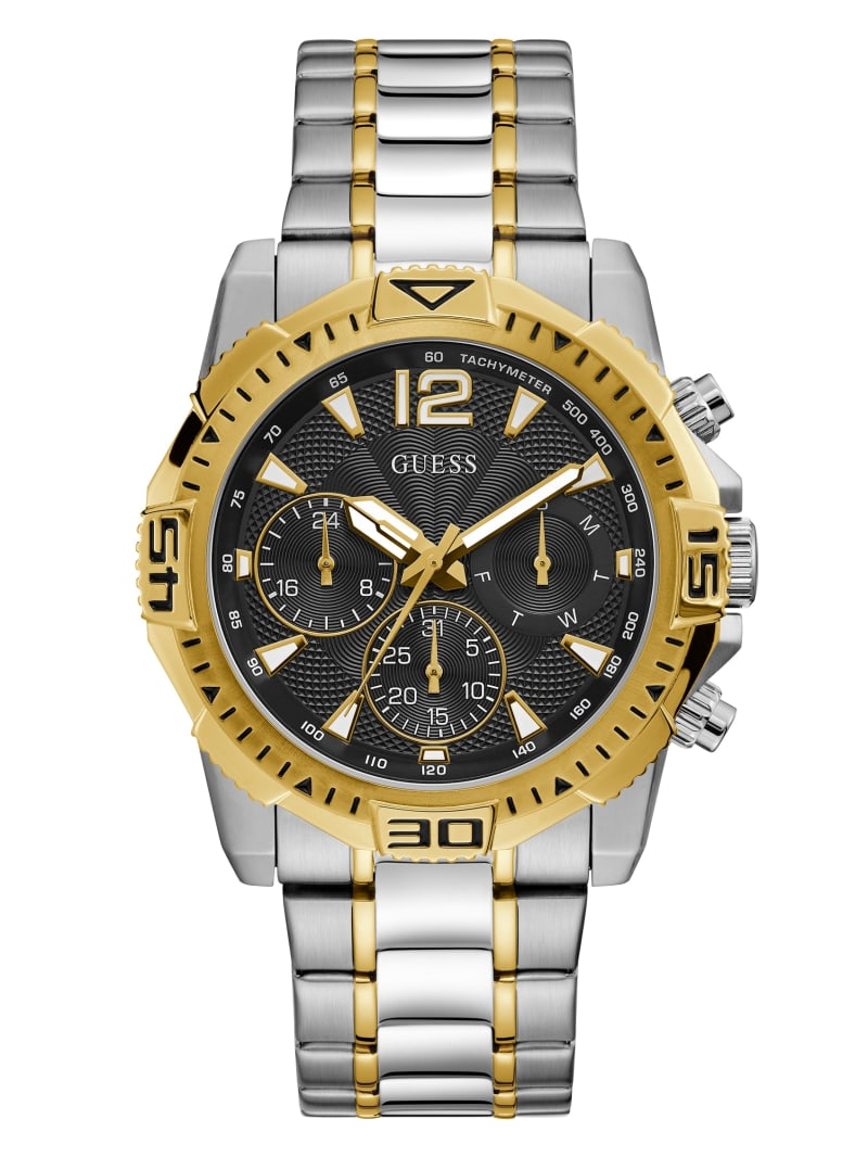 Gold And Silver-Tone Chrono-Look Multifunction Watch