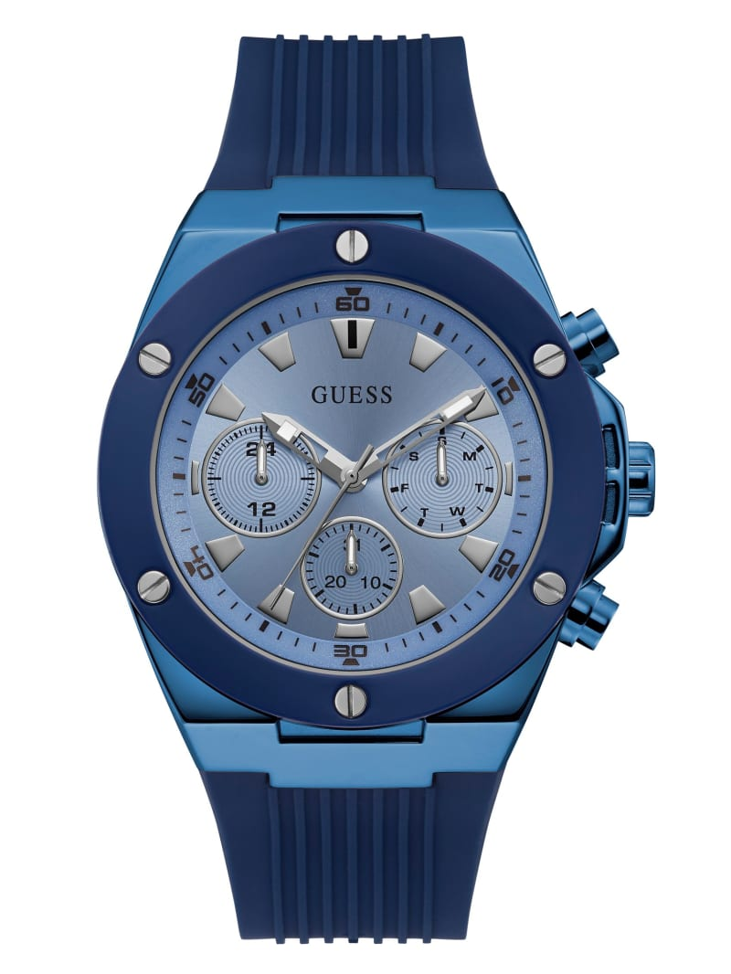 Blue Chrono-Look Multifunction Watch