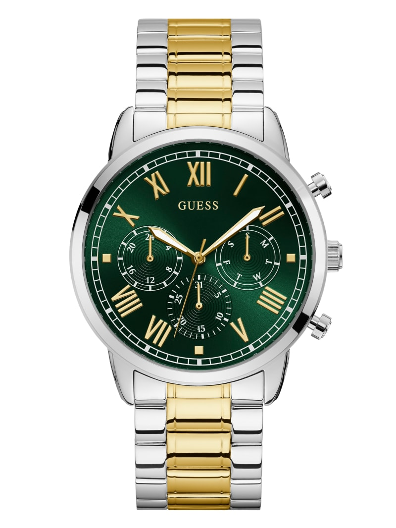 Green Two-Tone Multifunction Watch