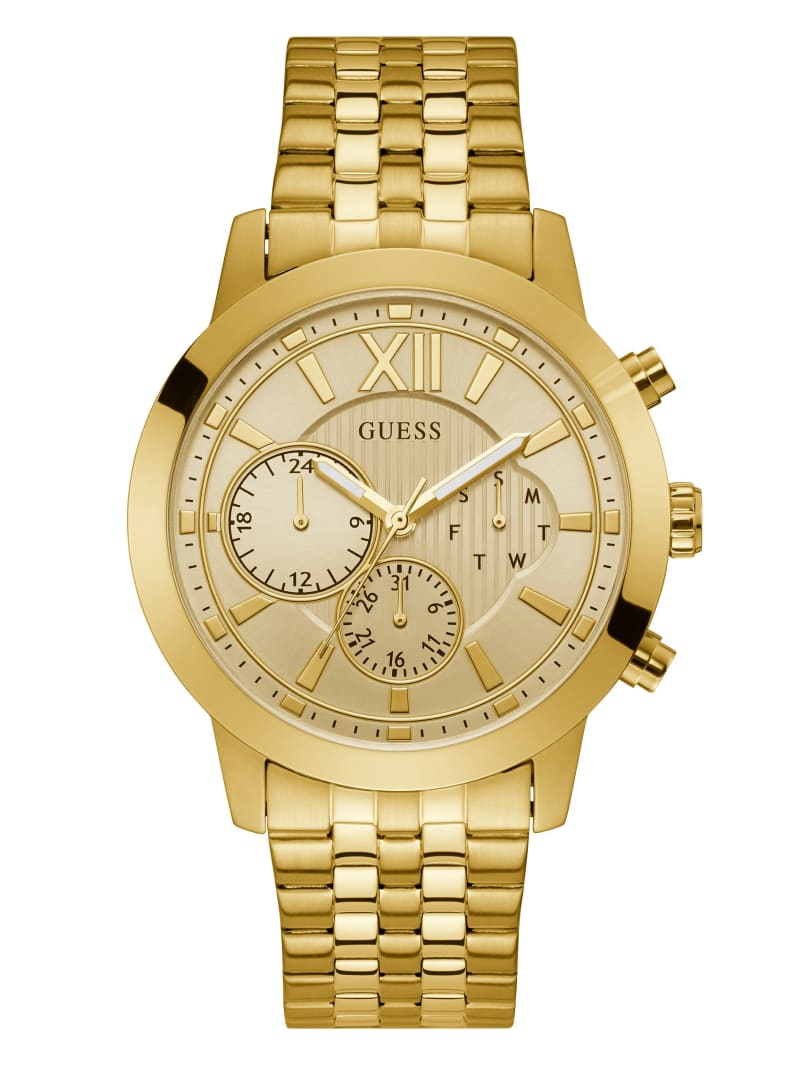 Gold-Tone Chrono-Look Multifunction Watch
