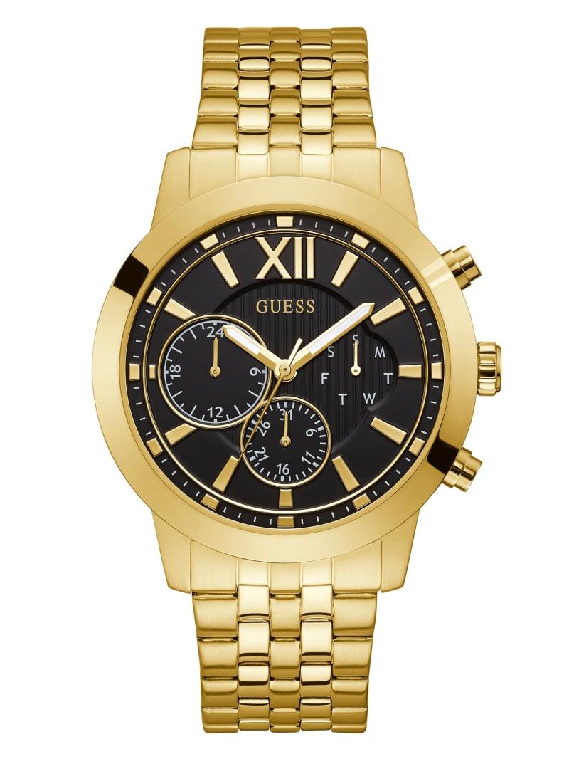 Black Gold-Tone Multifunction Watch