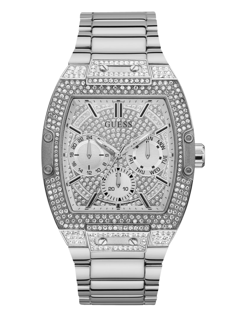 Silver-Tone Multifunction Watch